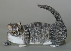 Fine Art Miniatures by Natasha, featuring shadow boxes, miniature paintings, painted sculptures, and dollhouse scale decorated period furniture. Grey Cats, Cat Art, Sculpting, Dog Cat, Kittens, Sculptures, Creatures, Miniatures, Fine Art