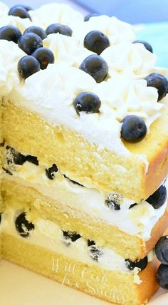 Blueberries and Cream Cake