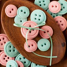 These are little vanilla cream cheese button cookies.