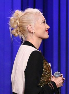 Gwen Stefani on The Tonight Show With Jimmy Fallon. Photo:  When Marc by Marc Jacobs sent models wearing knotted faux-hawks down the runway at New York Fashion Week on September 9, it felt like we were back in the audience of a No Doubt concert circa '98, when Gwen Stefani rocked the look whether her hair was bleached blond or bright blue.  Immediately after the fashion show, Rita Ora showed up to the Fashion Rocks concert wearing a very similar style—either a wild coincidence or direct ...