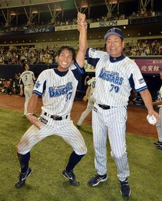 Masayuki Kuwahara and Kiyoshi Nakahata (Yokohama DeNA BayStars)