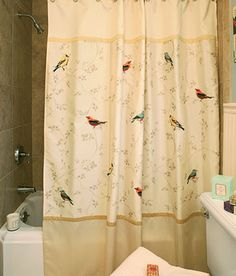 If I Ever Redecorate The Bathroom...Gilded Birds Shower Curtain