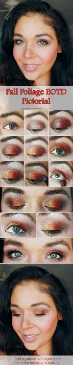 Agape Love Designs: Fall Foliage EOTD Pictorial #Makeup #Beauty #eotd #Fall #Pictorial #howto #eotd