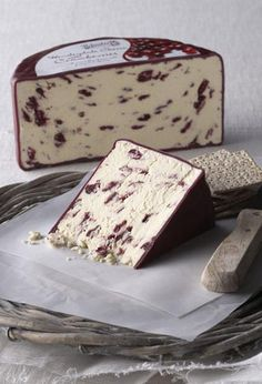 Wensleydale cheese with cranberries, would be better if it was made in Hawes, but still tastes just as good--and they sell it at Costco! woot!