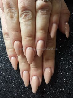 Secrets nude acrylic almond nails #NailArt #Nails Taken at:24/02/2015 12:21:31 Uploaded at:25/02/2015 14:25:00 Technician:Elaine Moore