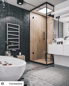 Новости bathroom/ванна cuarto de baño, lofts modernos и baños modernos. Industrial Bathroom Design, Industrial Interior Design, Industrial Interiors, Modern Bathroom Design, Bathroom Interior Design, Industrial Loft, Modern Bathtub, Vintage Industrial, Industrial Lighting