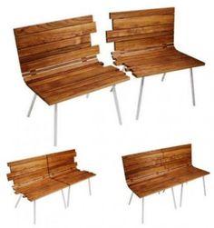 Creative Inspiring wooden Bench That can Split