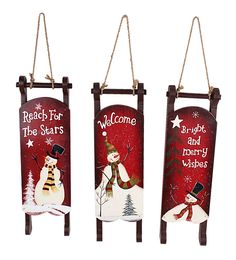 Features:  -Comes with 3 different designed sleighs.  -Artistic decor.  -Made by wood.  Product Type: -Decorative Accents.  Number of Items Included: -3.  Holiday Theme: -Yes.  Seasonal Theme: -Yes.