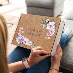 personalised floral corners wedding guest book by mirrorin | notonthehighstreet.com