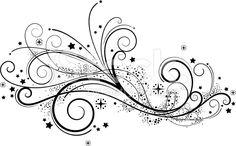 Fancy Scroll Love the detail in this swirl. Swirl Tattoo, Scroll Design, Swirl Design, Star Art, Free Vector Art, Vector Graphics, Body Art Tattoos, Tatoos, Clipart