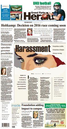 Aug. 26, 2015 Harassment centerpiece#GrandForksHerald