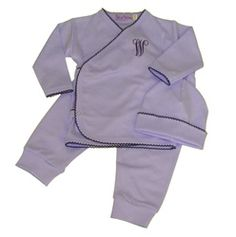 Blue with navy trim Take me home set. Welcome home outfit for your special baby. from Cute as Buttons