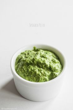 SPINACH PESTO Ingredients 2 cups fresh spinach leaves, stemmed and washed 1/4 cup walnuts 1/2 cup pine nuts 1 teaspoon sea salt 1/4 cup parmesan cheese, freshly grated 4 tablespoons extra virgin olive oil   InstructionsPlace all ingredients into you food processor and blend until you get the desired consistency.