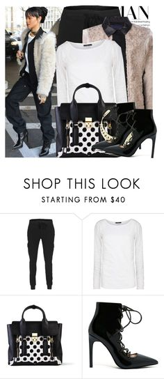"""""""Rihanna"""" by kusja ❤ liked on Polyvore featuring James Perse, Lanvin, MANGO, 3.1 Phillip Lim, Jeffrey Campbell, women's clothing, women, female, woman and misses"""
