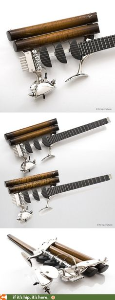 Teuffel Birdfish Guitar in exotic woods and rhodium, $26,000.00