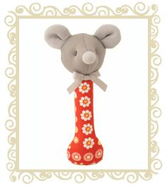 Alimrose Designs Harriet Stick Rattle  Alimrose Designs Harriet the mouse hand stick rattle. Approx 14cm.  $14.95