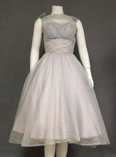 Vintageous, LLC - Lovely Pale Blue Organdy 1950's Cocktail Dress w/ Sequined Lace Bust, $180.00 (http://www.vintageous.com/lovely-pale-blue-organdy-1950s-cocktail-dress-w-sequined-lace-bust/)