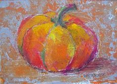 Pumpkin acrylic on heavy watercolor paper; Amy Whitehouse