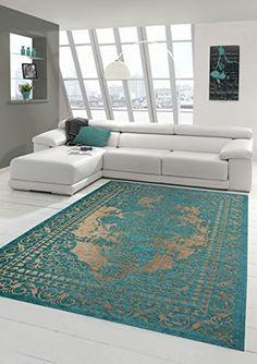 orientteppich vintage modern handgeknüpft perser 350 x 223 cm ... - Orientteppich Wohnzimmer