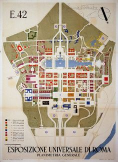 Site plan for 1939 Universal Exposition in Rome (the EUR district).