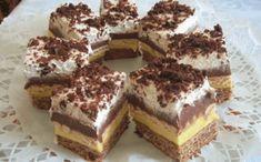 Keksztorta 5 hozzávalóból – amilyen hamar összedobható, olyan hamar el is fogy! Hungarian Desserts, Hungarian Recipes, My Recipes, Cookie Recipes, Dessert Recipes, Tasty, Yummy Food, Cake Bars, Food Cakes