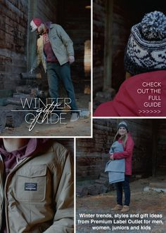 A winter style guide from Premium Label Outlet with trends, styles and gift ideas for men, women and kids from the best brands in skate, snow, surf & style. Surf Style, Winter Trends, Best Brand, Style Guides, Gift Guide, Military Jacket, Winter Fashion, News, Gifts