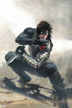 "Marvel's The Winter Soldier (James Buchanan ""Bucky"" Barnes) - Captain America: The Winter Soldier Marvel Dc Comics, Heros Comics, Marvel Art, Marvel Heroes, Comic Book Characters, Marvel Characters, Comic Character, Comic Books Art, Bucky Barnes"