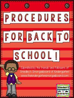 The Kindergarten Smorgasboard: A Kindergarten Smorgasboard Submissions For Smorgie: Routines and Procedures
