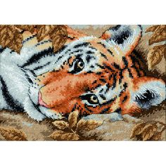 Tigers always make for stunning cross-stitch kits, and this is no exception. The animals beauty is captured perfectly.