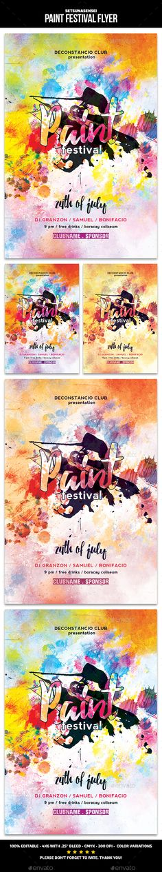 Paint Festival Flyer
