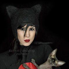 Kat von D Unlimited Kat Von D Tattoos, The Kat, Animal Activist, Beautiful Tattoos, Tattoo Artists, Tatoos, Kitty, Muse, Gothic