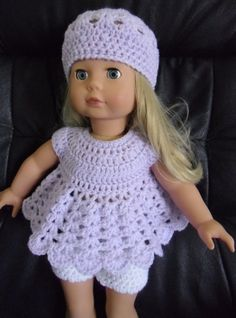PDF Crochet pattern for 18 inch doll American Girl by petitedolls