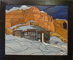 Canyon Cabin in the Southwest, Wood Sculpture Wall Decor, Wall hanging Wall Art by GalleryatKingston, $225.00 USD