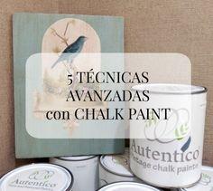 5 TÉCNICAS DEL TALLER AVANZADO CON CHALK PAINT - Mandarina Pinturas Chalk Paint Projects, Chalk Paint Furniture, Diy Furniture Projects, Chalk Paint Tutorial, Chalky Paint, Decoupage Vintage, Mineral Paint, Stencils, Crafts