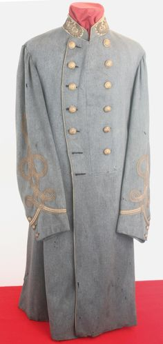 Civil War Confederate Generals Coat of General John McCausland. The Confederate General that burned Chambersburg, PA - A VMI graduate