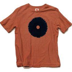 """Shibori Tie-Dyed Loop Wheel Organic Cotton T-shirt """"One-eyed"""""""