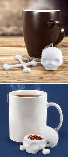 Tea Bones - skull and crossbones tea infuser #product_design
