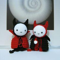 Cute Crochet Devils! I want one!