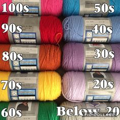 These are all ILTY. Maybe divide each category in half and use double the colors. Also, white sparkle for any day it snows. Crochet Quilt, Afghan Crochet Patterns, Knit Or Crochet, Crotchet, Crochet Crafts, Yarn Crafts, Knitting Patterns, Yarn Projects, Crochet Projects