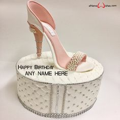 write name on pictures with eNameWishes by stylizing their names and captions by generating text on Magical Happy Birthday Wishes Cake with Name with ease.