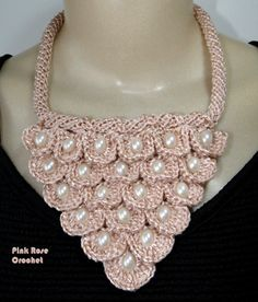 crochet patterns on the collars and necklaces   make handmade, crochet, craft