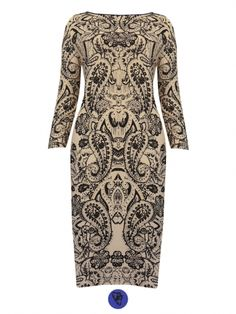 e794988f373 Butterfly And Paisley Bodycon Dress - Women s Plus Size Clothes UK