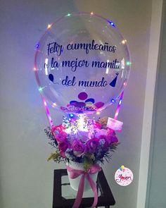 New Flowers Gift Bouquet Valentines Mothers Ideas Flower Bouquet Diy, Bouquet Box, Gift Bouquet, Candy Bouquet, Balloon Arrangements, Balloon Decorations, Birthday Decorations, Balloon Flowers, Balloon Bouquet