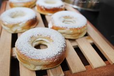Gogosi Dietetice cu Branza (fara zahar, continut scazut de grasimi, Dukan, sanatoase) - Powered by Sugar Free Desserts, Healthy Desserts, Healthy Recipes, Healthy Food, Low Carb Deserts, Doughnut, Stevia, Diet Recipes, Sweets