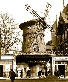 The Moulin Rouge (translates to Red Mill, or windmill), was built in 1889, and is situated in the red-light district of Pigalle.