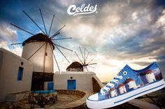 To travel is to live ❣️ Feel the island's vibes 😎 at: http://celdes.com/all/75-mykonos-windmills.html #exploreceldes #exploretheworld #mykonos