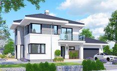 House Layout Plans, House Layouts, 2 Storey House Design, Modern Farmhouse Plans, Big Windows, Facade House, House Front, Design Case, Home Fashion
