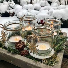 Adventskranz im Schnee