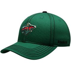 ce4e6f46779 Youth Reebok Green Minnesota Wild Basic Structured Adjustable Hat
