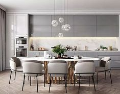 50 Affordable Kitchen Dining Room Design Ideas For Eating With Family - With space crunch becoming a common issue faced by people in setting up their houses, buying home furnishing products has become more challenging than. Kitchen Room Design, Modern Kitchen Design, Living Room Kitchen, Dining Room Design, Interior Design Kitchen, Modern Interior Design, Home Design, Kitchen Decor, Design Ideas